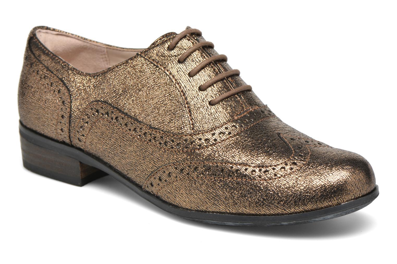 Schnürschuhe Clarks Hamble Oak gold/bronze detaillierte ansicht/modell
