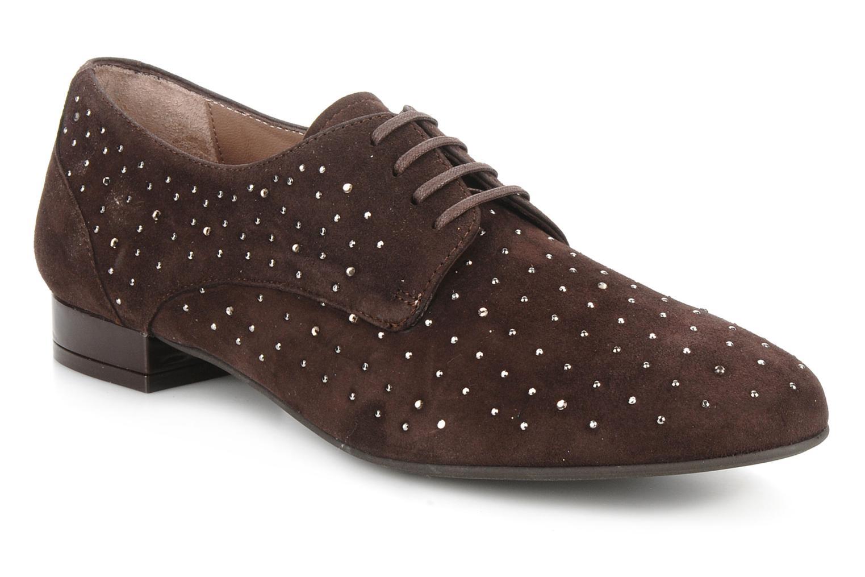 Chaussures à lacets Georgia Rose Perly Marron vue détail/paire
