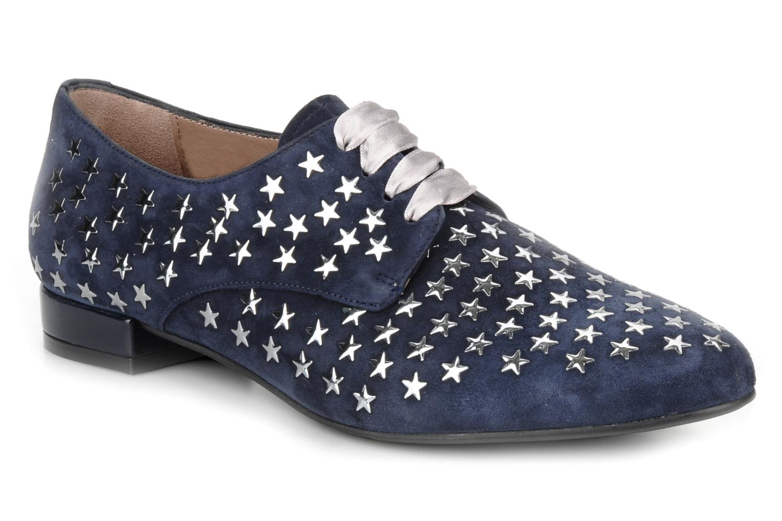 Lace-up shoes Georgia Rose Prune Blue detailed view/ Pair view