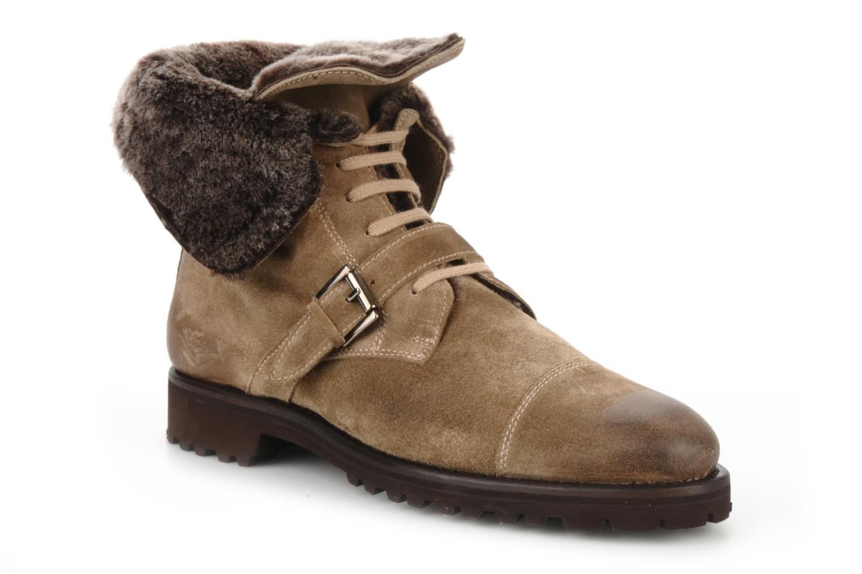 Bottines et boots Georgia Rose Molton Beige vue bas / vue portée sac