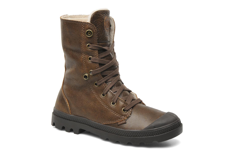 Bottines et boots Palladium Baggy ls w Marron vue 3/4