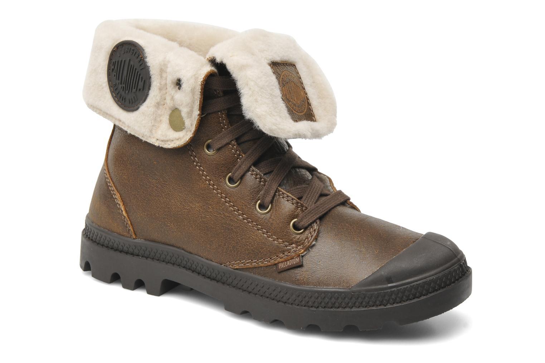 Bottines et boots Palladium Baggy ls w Marron vue détail/paire