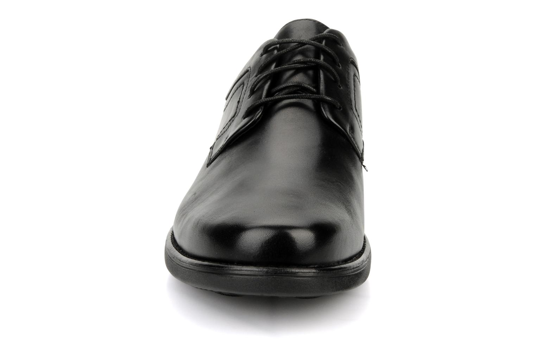 Schnürschuhe Clarks Carter air schwarz schuhe getragen