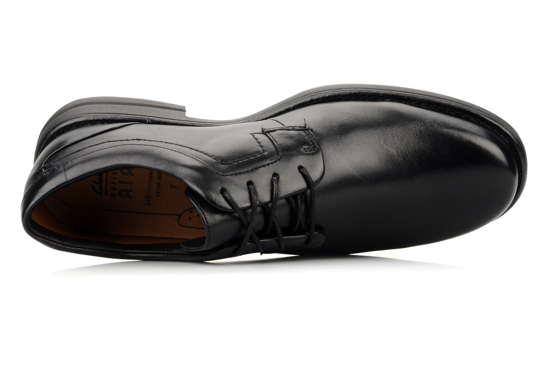 Chaussures à lacets Clarks Carter air Noir vue gauche
