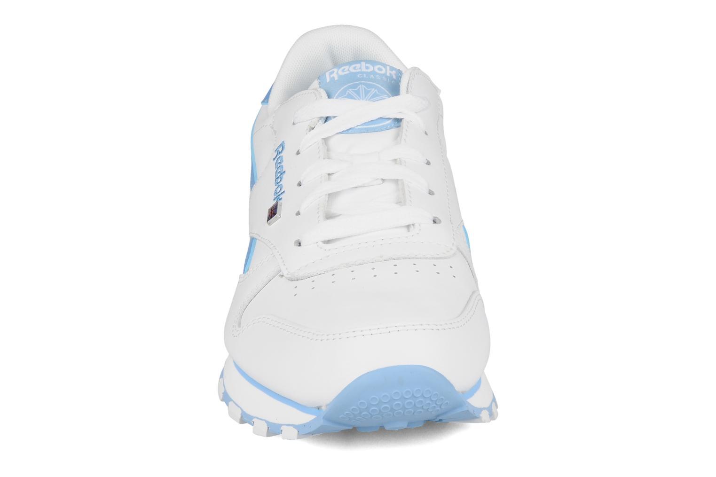 Baskets Reebok Cl lthr plug Blanc vue portées chaussures