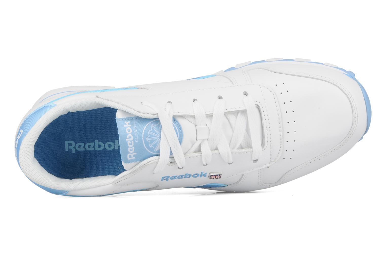 Baskets Reebok Cl lthr plug Blanc vue gauche