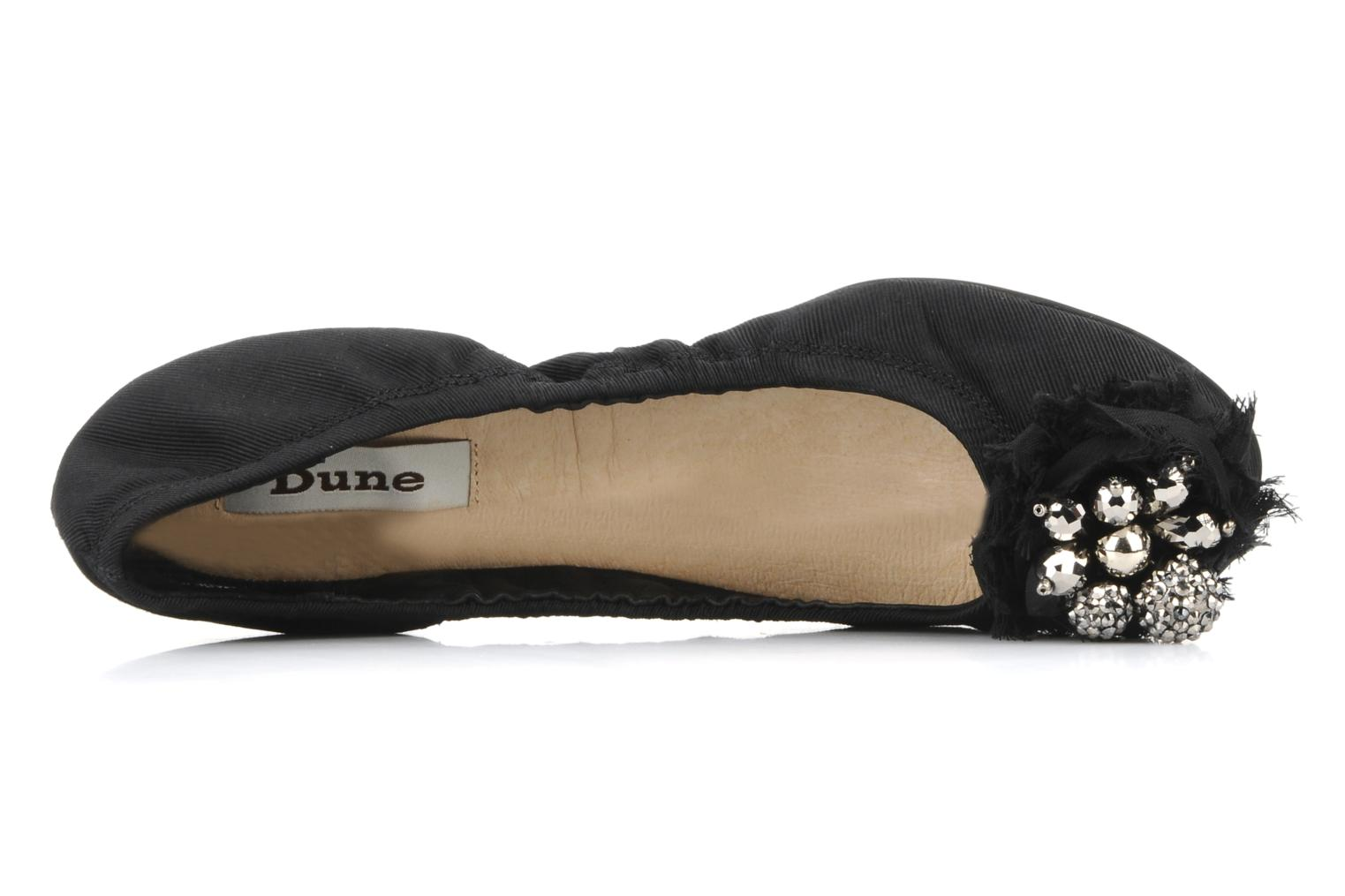 Ballet pumps Dune London Bauble Black view from the left