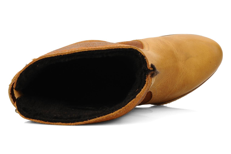Bottines et boots Bertie Miguel Marron vue gauche
