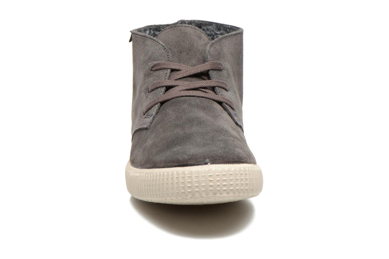 Schnürschuhe Victoria Safari serraje M grau schuhe getragen
