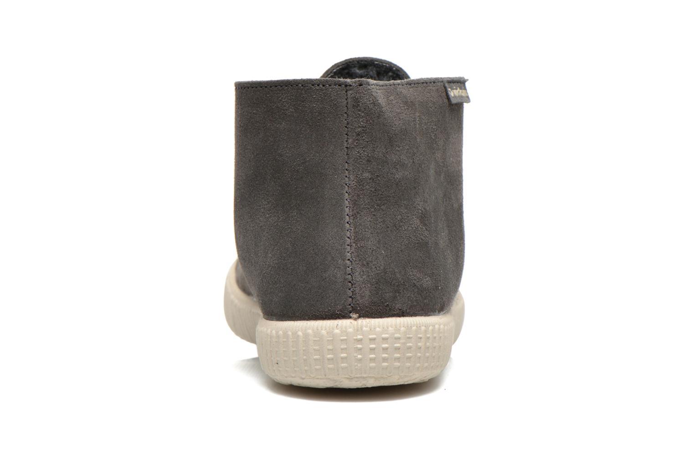 Chaussures à lacets Victoria Safari serraje M Gris vue droite