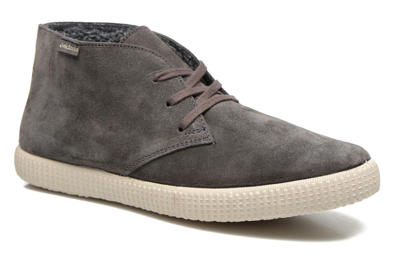 Lace-up shoes Victoria Safari serraje M Grey detailed view/ Pair view