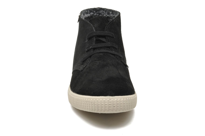 Baskets Victoria Safari serraje W Noir vue portées chaussures