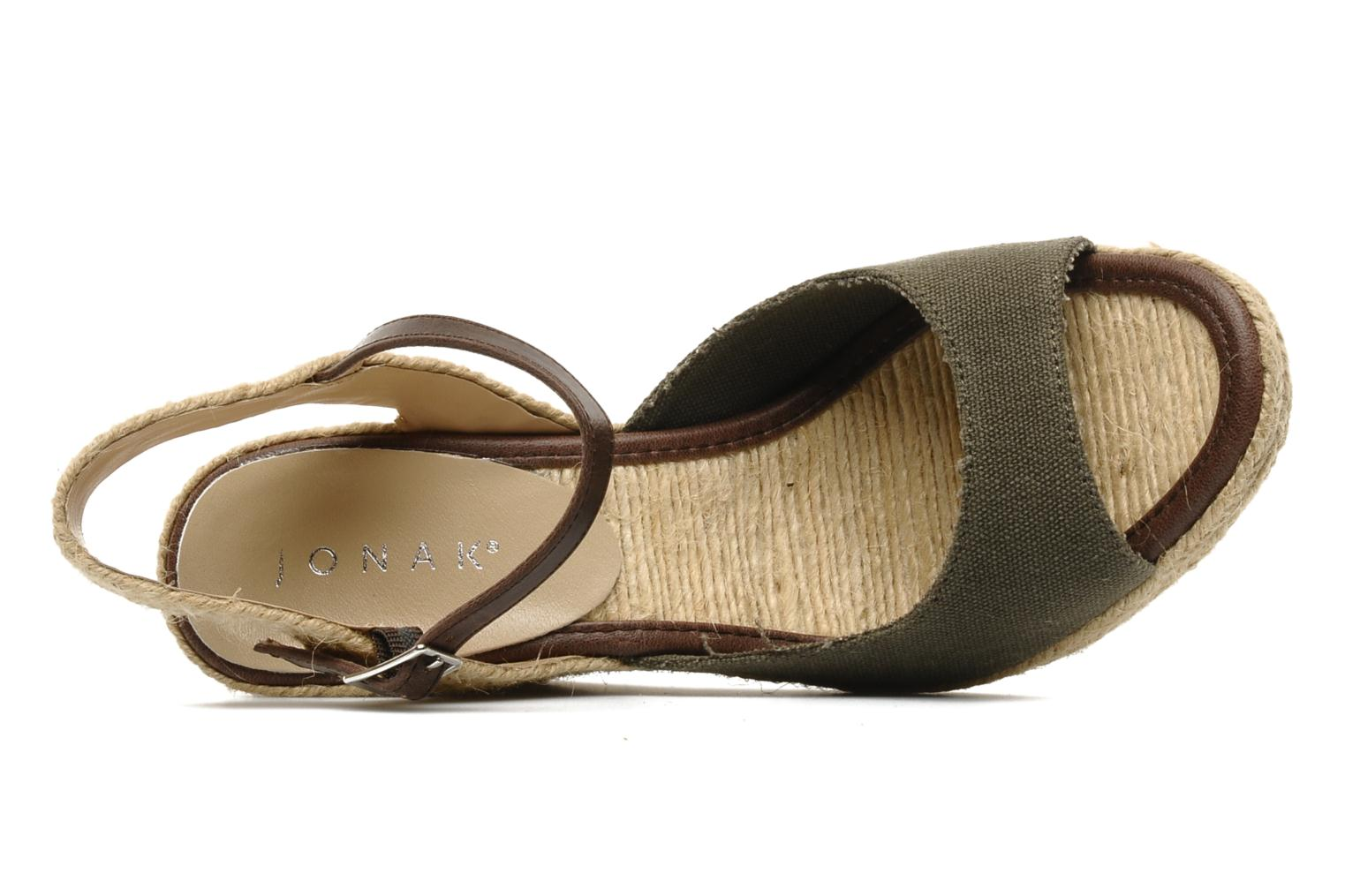Sandals Jonak Shirelle Green view from the left