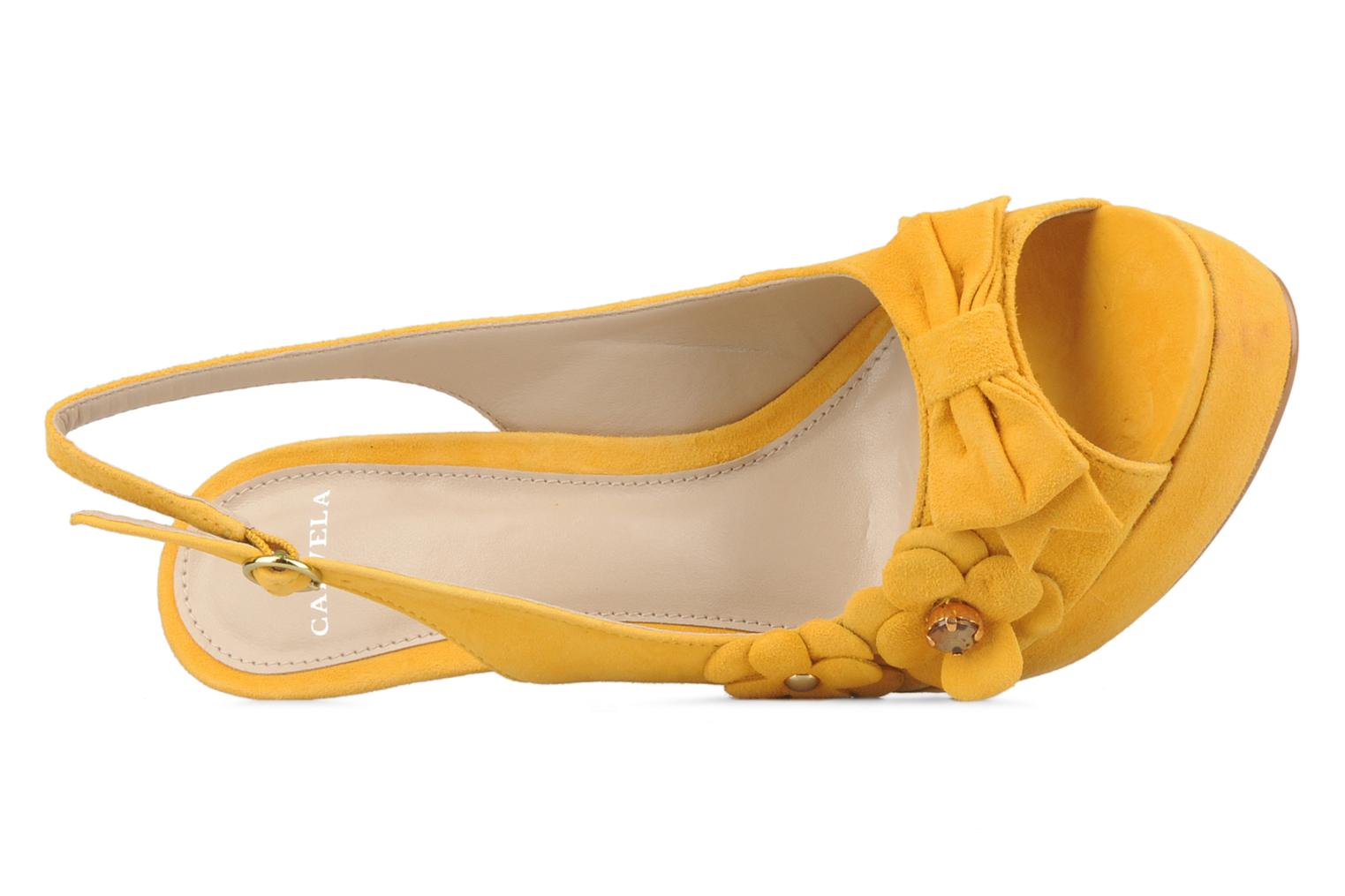 Sandals Carvela Gypsy Yellow view from the left