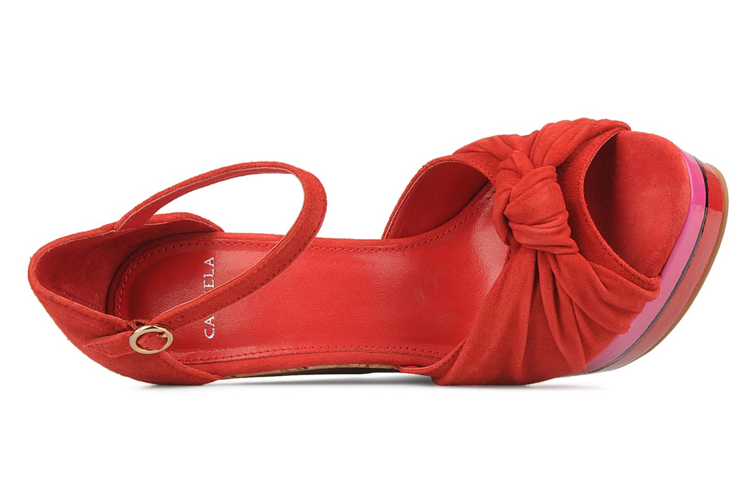 Sandals Carvela Kennis Red view from the left