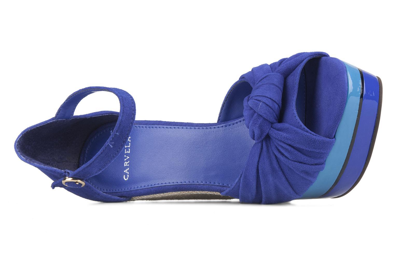 Sandalias Carvela Kennis Azul vista lateral izquierda