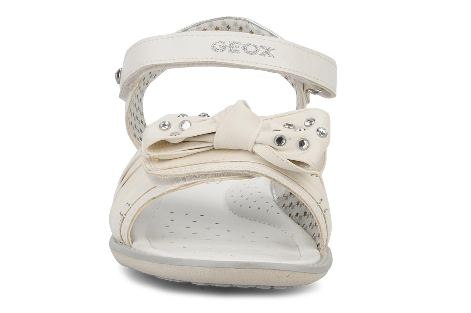 Sandals Geox J s.lime w White model view