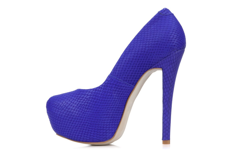 Diamante Blue snake leather