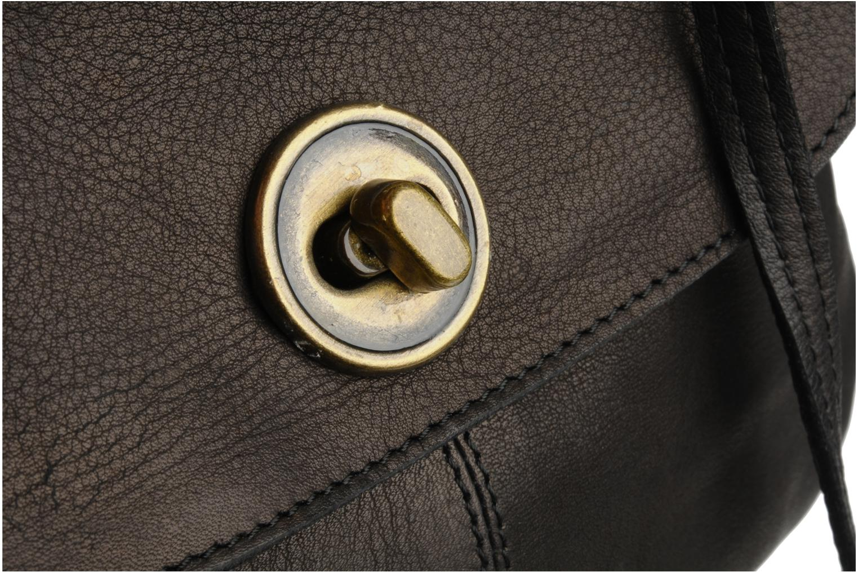 Handtassen Pieces Totally Royal leather Party bag Zwart links