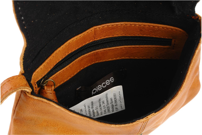 Handtaschen Pieces Totally Royal leather Party bag braun ansicht von hinten
