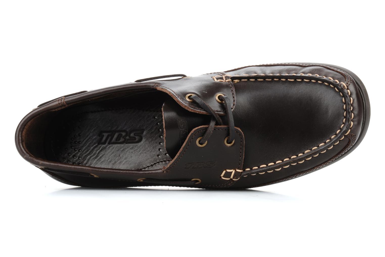 Zapatos con cordones TBS Neuron Marrón vista lateral izquierda