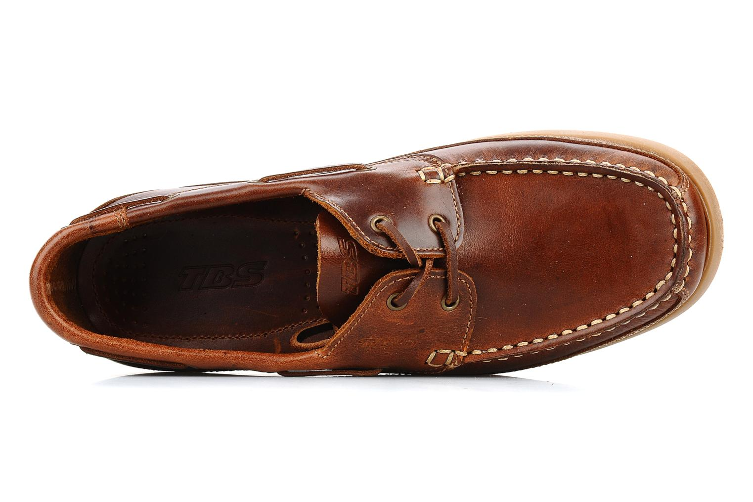 Lace-up shoes TBS Neuron Brown view from the left