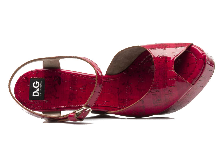 Sandales et nu-pieds D&G Piral Rouge vue gauche