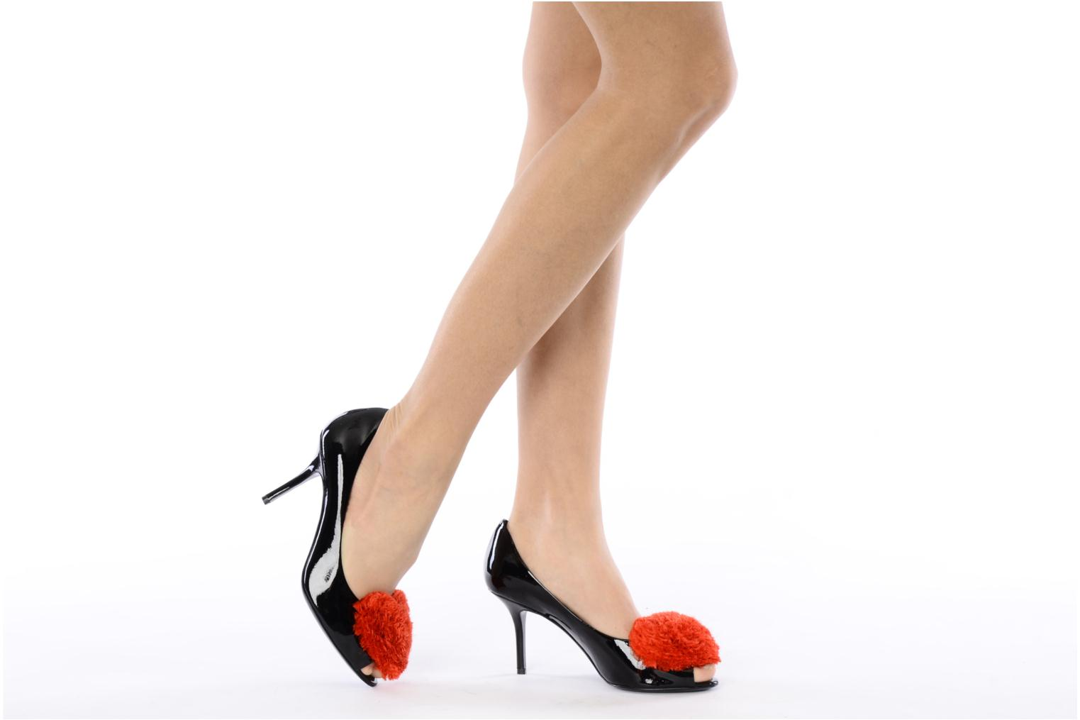 High heels Moschino Cheap & Chic Charonne Black view from underneath / model view