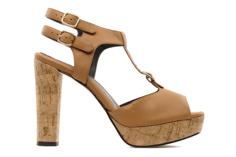 Sandalias Tila March Plateform sandal t-bar Marrón vistra trasera