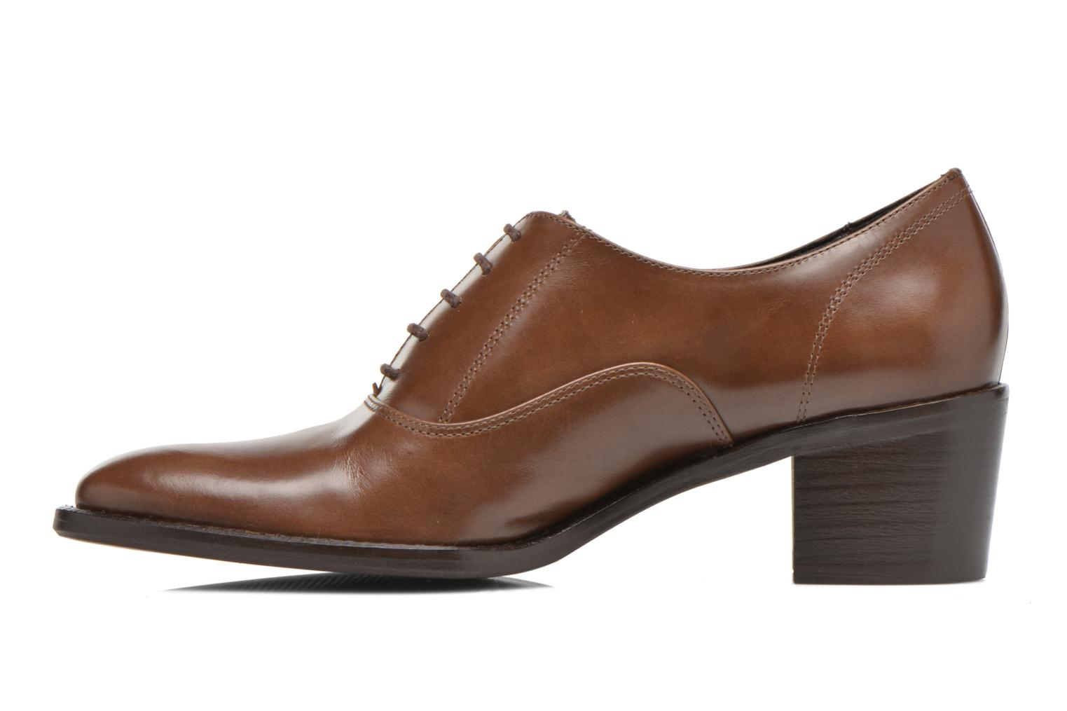 Lace-up shoes Georgia Rose Daporo Brown front view