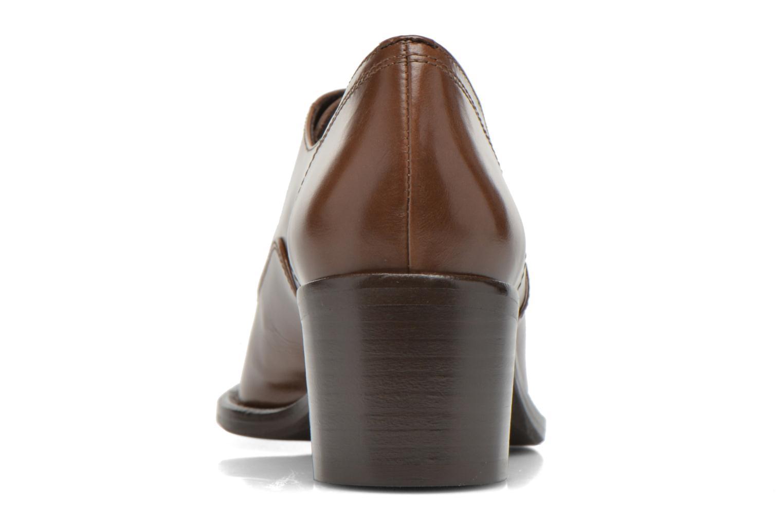 Zapatos con cordones Georgia Rose Daporo Marrón vista lateral derecha