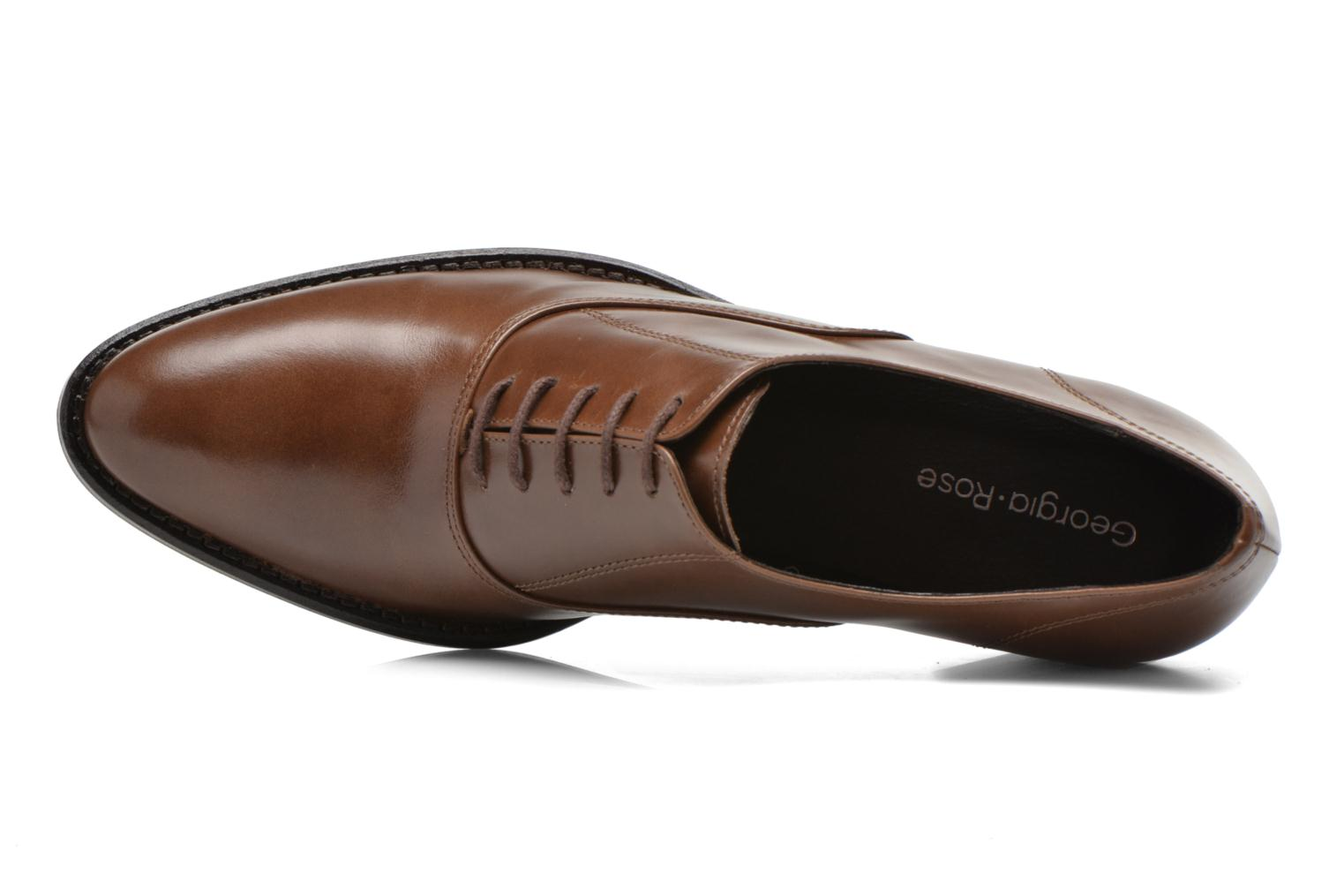 Lace-up shoes Georgia Rose Daporo Brown view from the left
