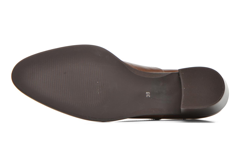 Zapatos con cordones Georgia Rose Daporo Marrón vista de arriba