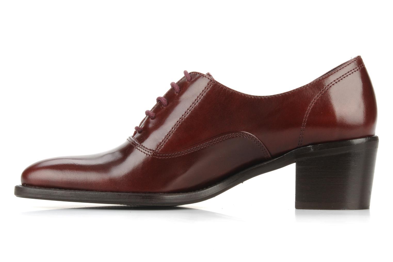 Snörade skor Georgia Rose Daporo Vinröd bild från framsidan