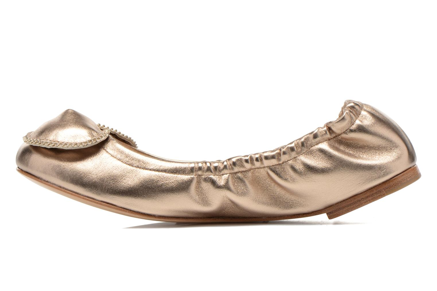 Ballerines See by Chloé Clara Or et bronze vue face