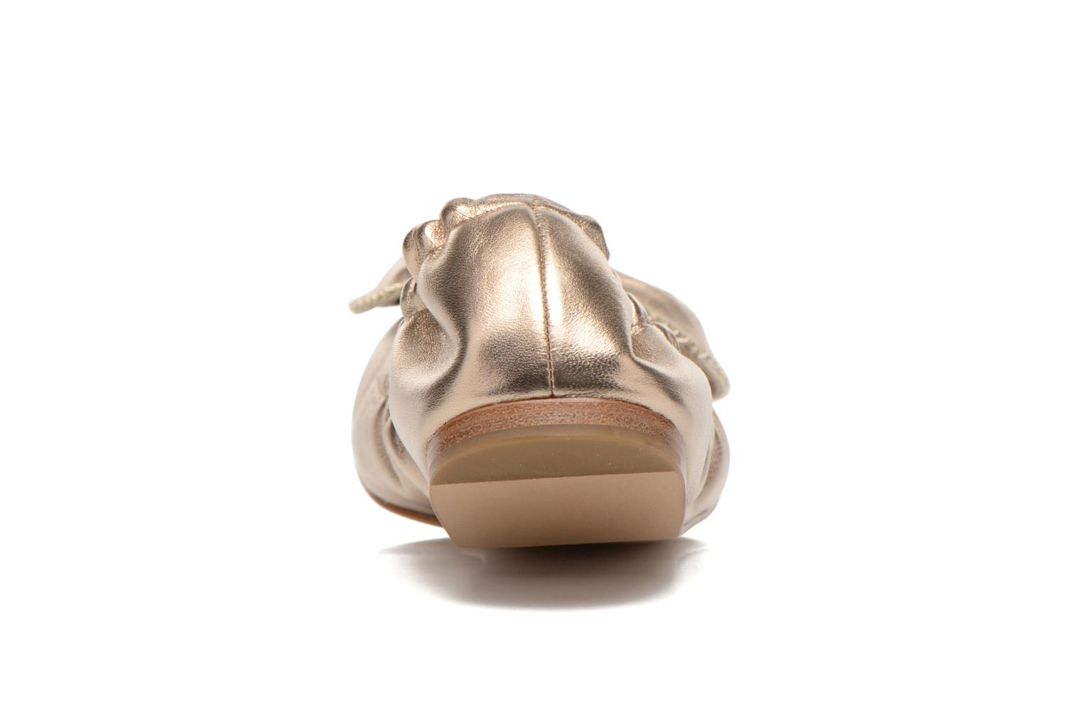 Ballerines See by Chloé Clara Or et bronze vue droite