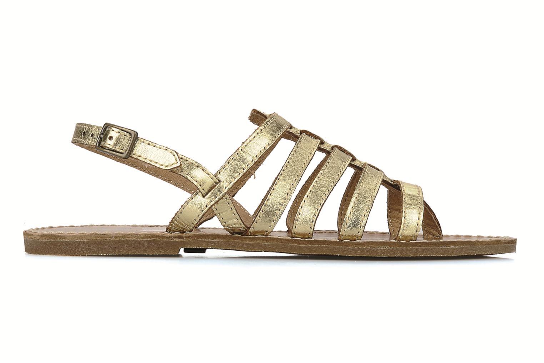 Sandals Le temps des cerises Sparti Bronze and Gold back view