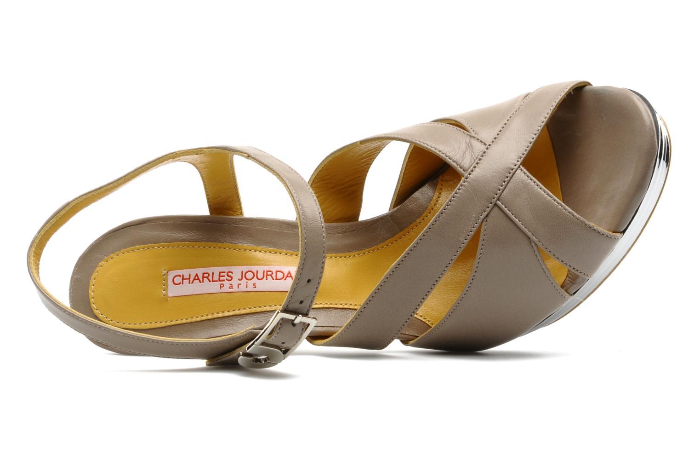 Sandali e scarpe aperte Charles Jourdan Marilyne Grigio immagine sinistra