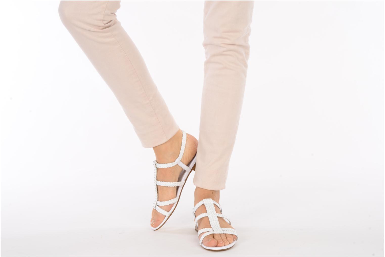 Sandals Stephane Kélian Ifni White view from underneath / model view