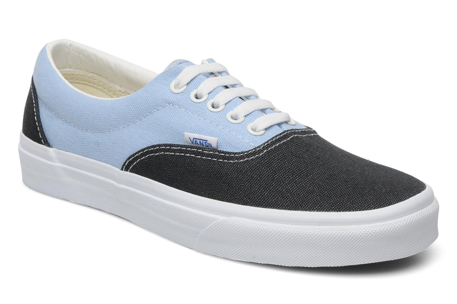 (2-Tone Check) Imperial Blue/True White Vans Era (Bleu)