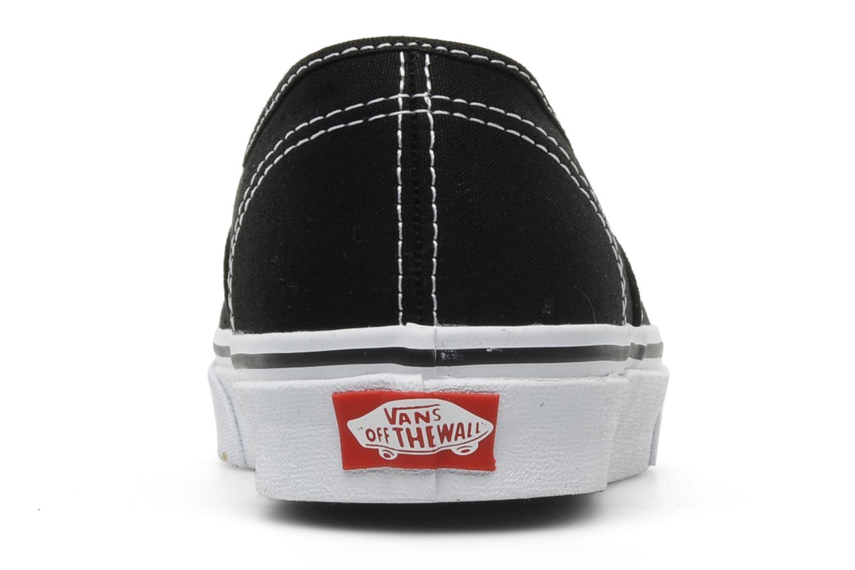 Sneakers Vans Authentic w Zwart rechts