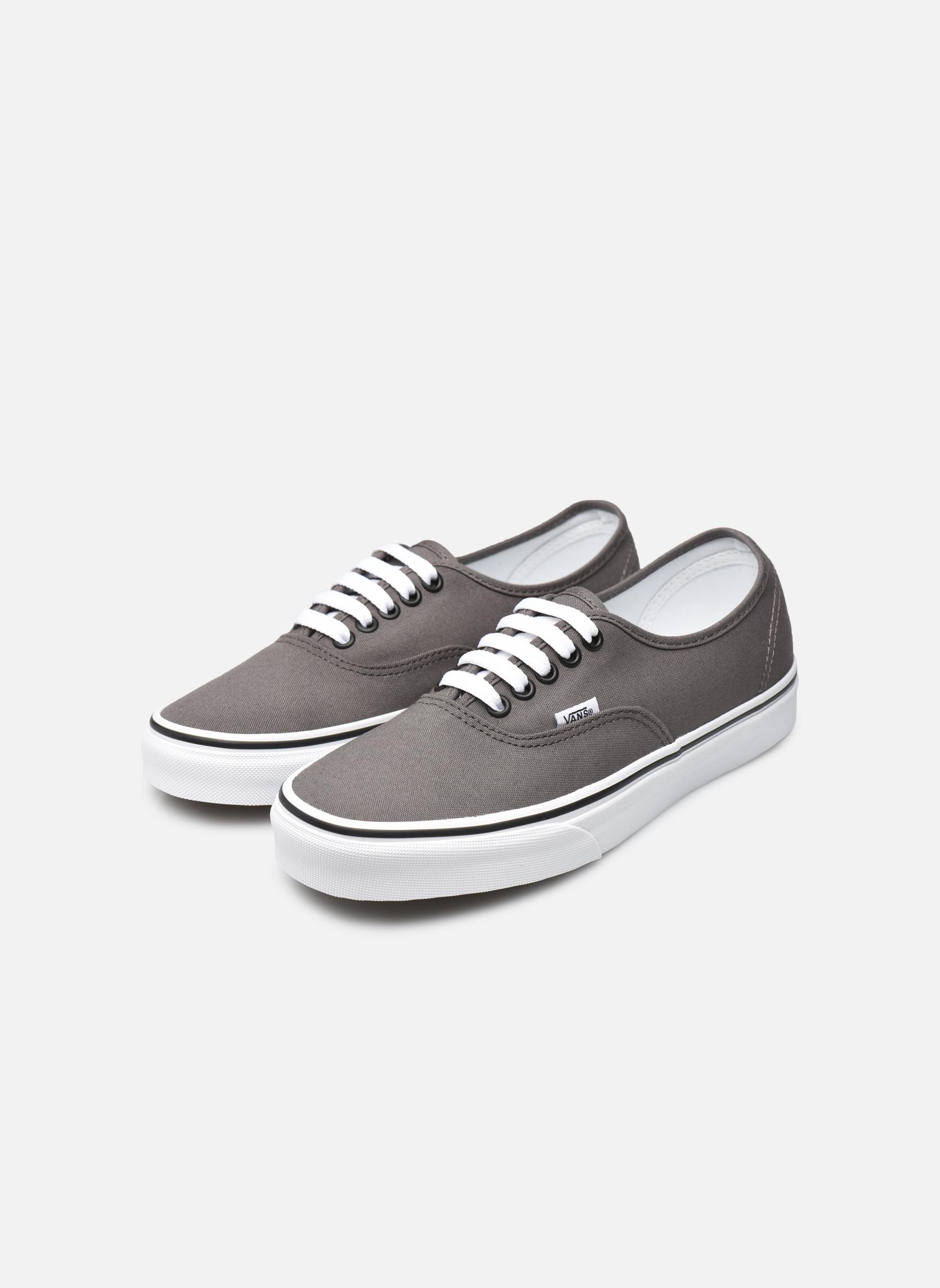 Sneaker Vans Authentic w grau ansicht von unten / tasche getragen