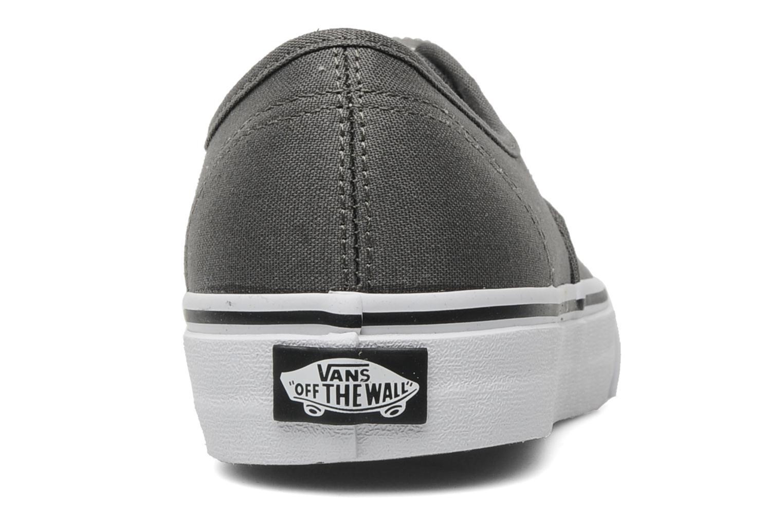 Baskets Vans Authentic w Gris vue droite