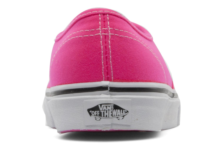Sneakers Vans Authentic w Roze rechts