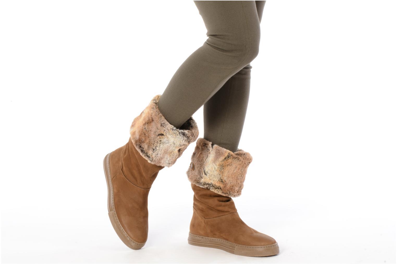 Bottines et boots Eden Blimer Gris vue bas / vue portée sac