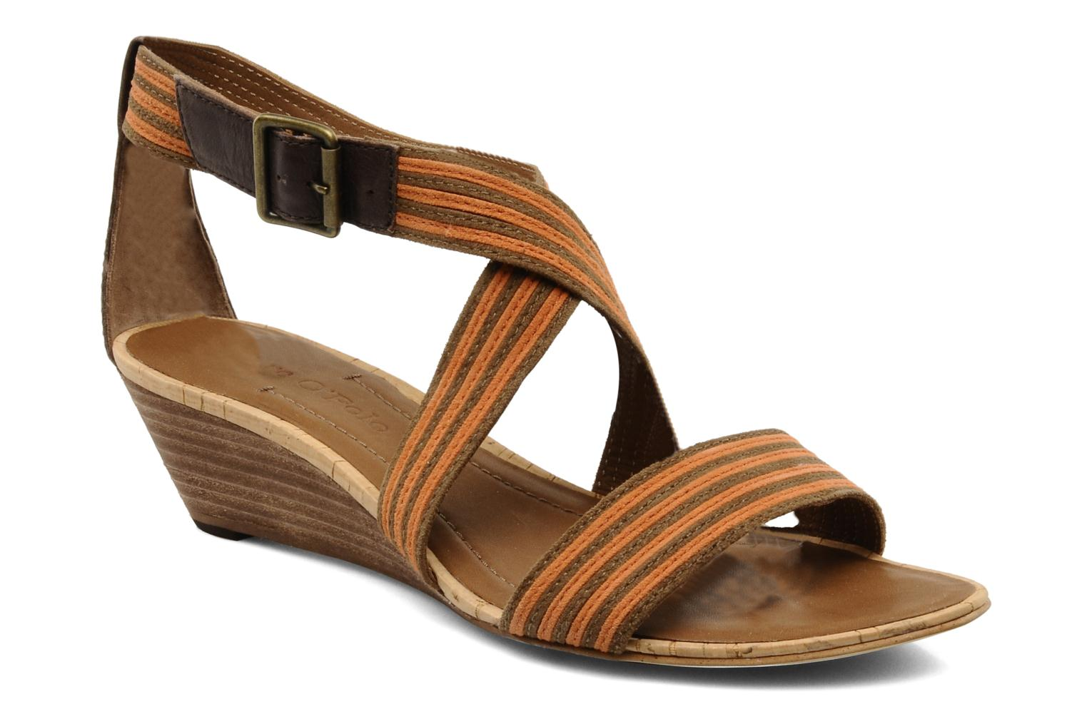 Sandals Marc O'Polo Kella Brown detailed view/ Pair view