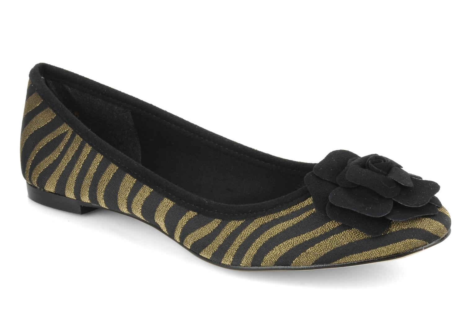 Ballet pumps Beyond Skin FLEUR Bronze and Gold detailed view/ Pair view