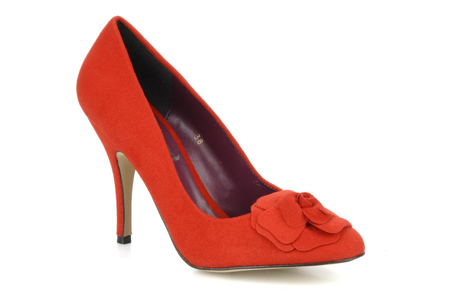 SWEETIE Red faux suede