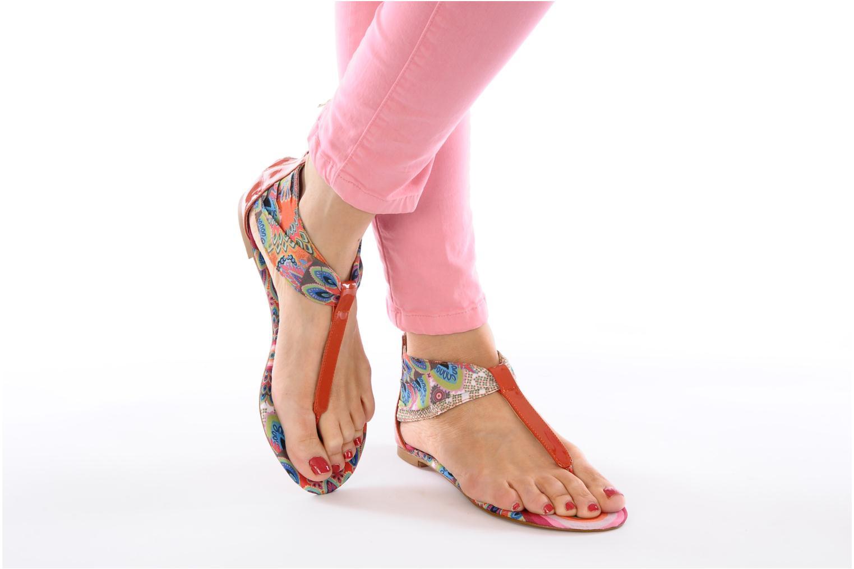 Sandales et nu-pieds Desigual Aolani Orange vue bas / vue portée sac