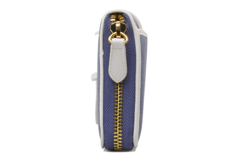 Petite Maroquinerie Tila March Zelig Canvas Long Wallet Bleu vue portées chaussures